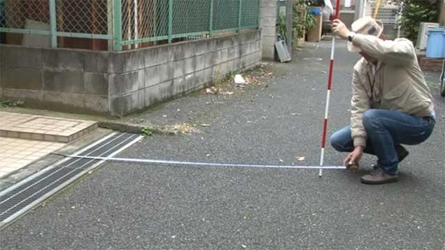 土地評価実務と現場実習(道路調査)